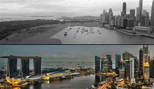 Famous cities over time before and after