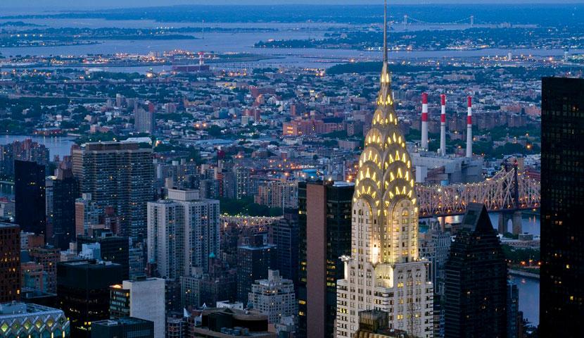 ساختمان کرایسلر نمادی از شهر نیویورک با تصاویر با کیفیت و جذاب
