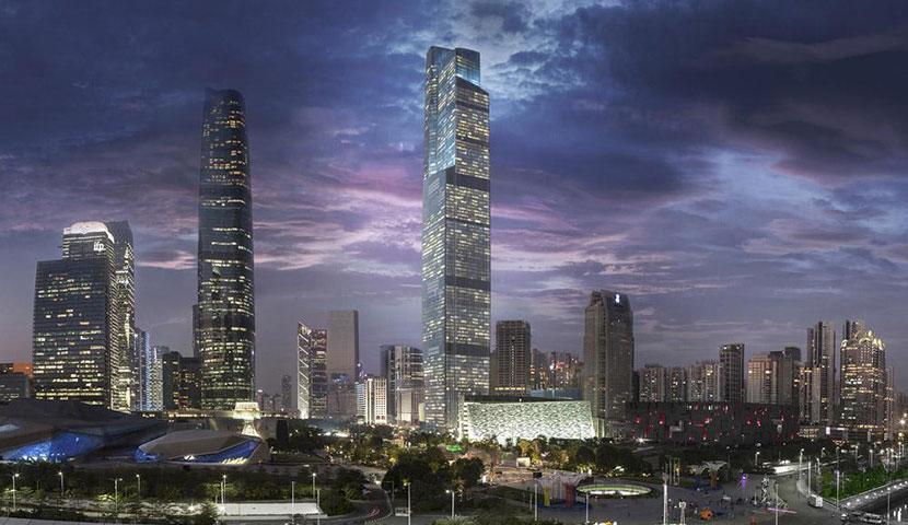 برج مرکز مالی CTF گوانگجو با تصاویر با کیفیت و جذاب