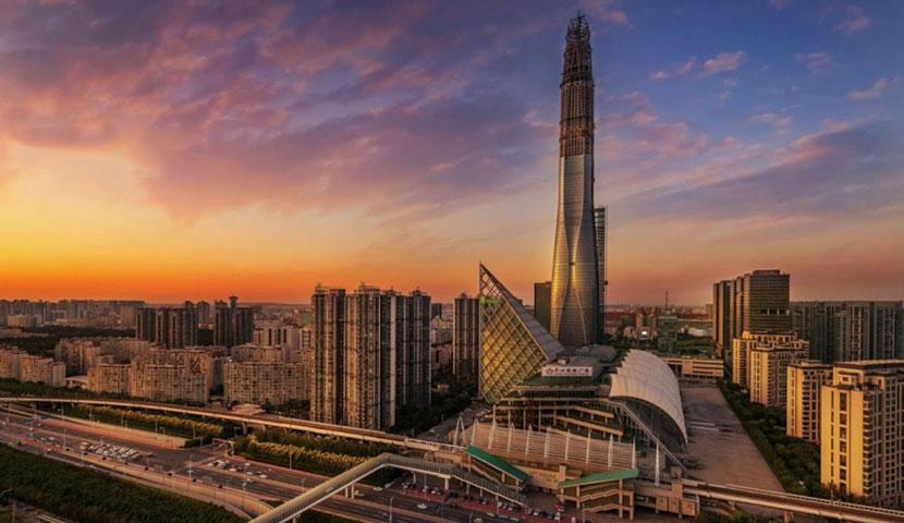 آسمان خراش مرکز مالی CTF در تیانجین با تصاویر با کیفیت و جذاب