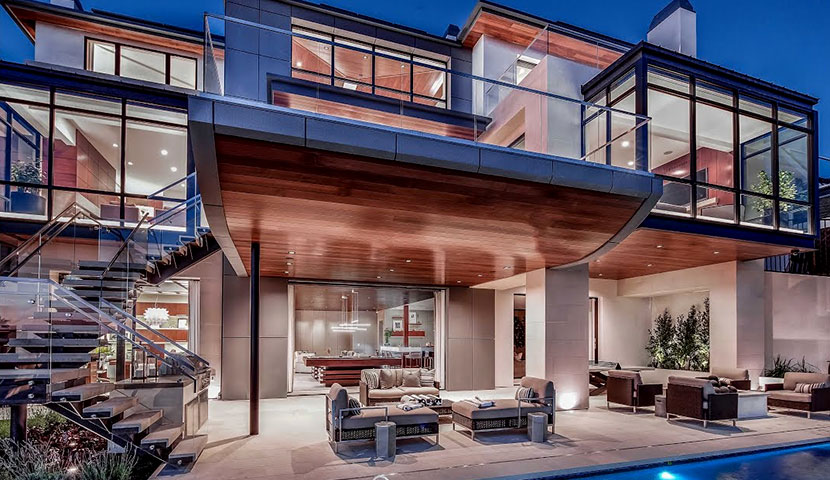 Modern villa in California