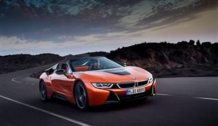 Driving pleasure with BMW i8 roadster