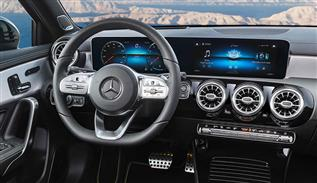 Mercedes Benz A class 2018 high-tech interior
