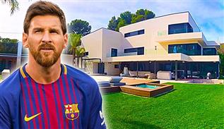 Lionel Messi's house in Barcelona