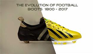 The evolution of football boots from 1800 to 2017