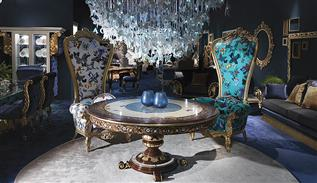 Caspani Tino luxury furniture at the Milan exhibition