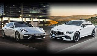 Mercedes-AMG GT 4-door coupe vs Porsche Panamera turbo