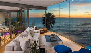 Glass house design in California