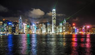 Magical Hong Kong with unmanned aerial vehicle