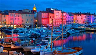The Saint Tropez and Saint Maxime beaches in France
