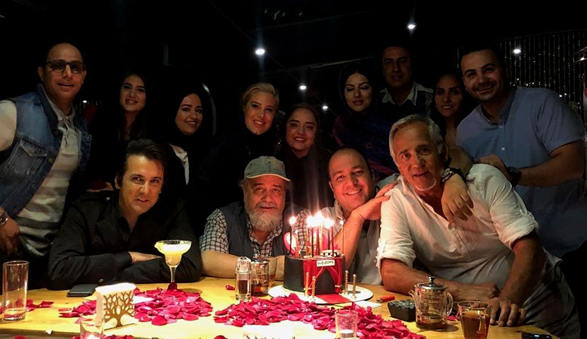Iranian Celebrities in Roble Restaurant